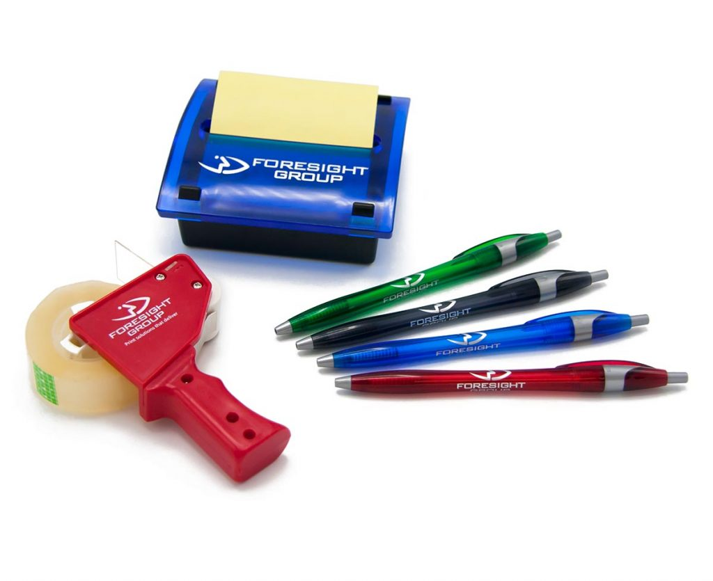 promotional-items-tape-post-its-pens-a